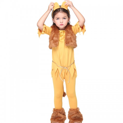 halloween funny lion costume for kid