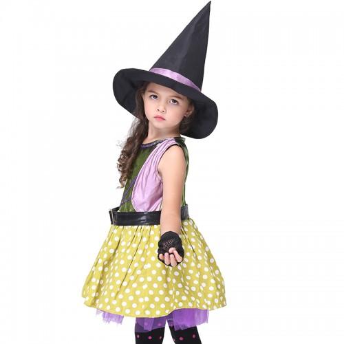 halloween yellow Witch outfit