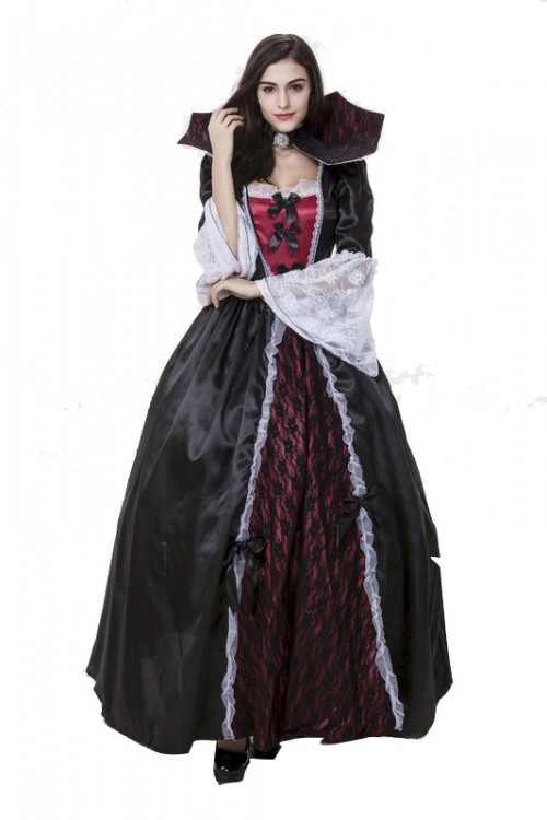Halloween Queen Dress Dark Ghost Bride Stage Pack