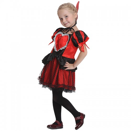 Halloween queen of hearts costume for girl