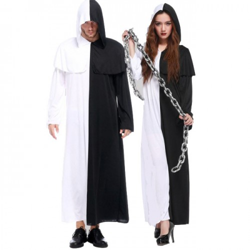halloween black and white impermanence costume
