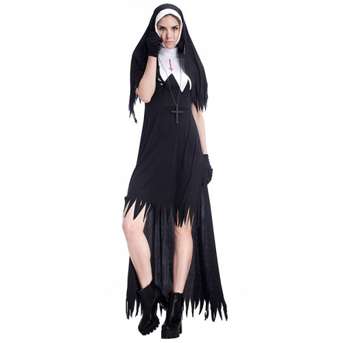 halloween modern nun dress