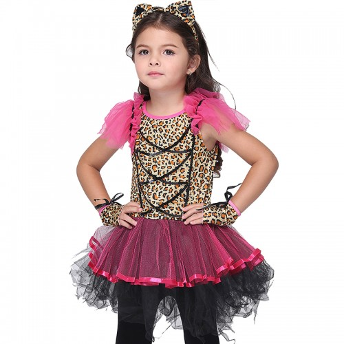 Girls leopard costumes wholesale