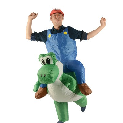 mario riding yoshi Inflatable costume
