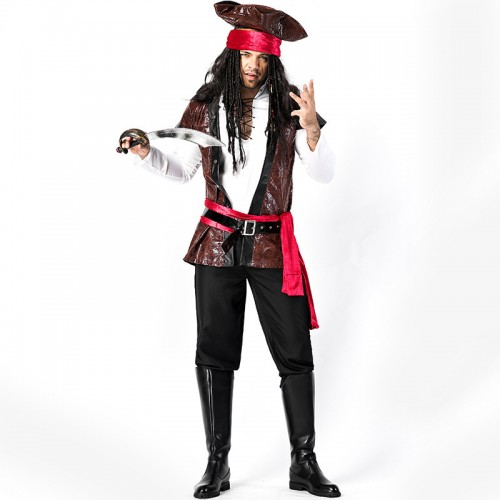 caribbean pirate costume for halloween wholesale