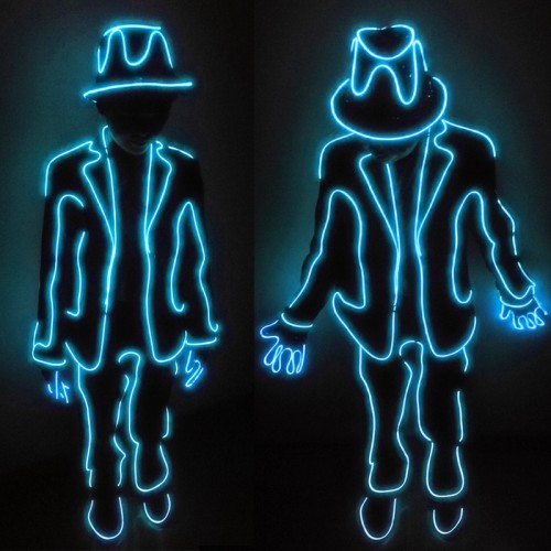led stickman costume