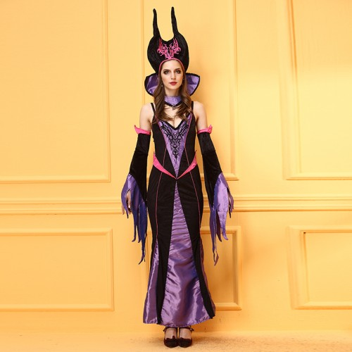 Purple Queen dress stage costumes