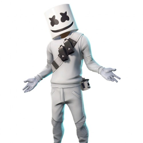 Halloween Dj Marshmello costume with full mask - fortnite