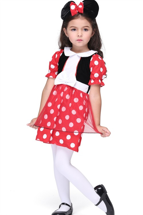 Minnie Mouse cosplay dress for Kids