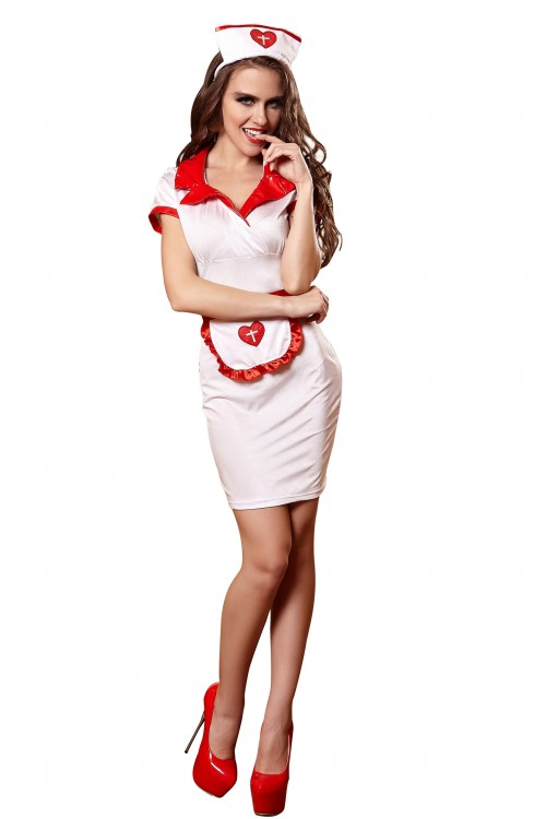 halloween sexy nurse dress
