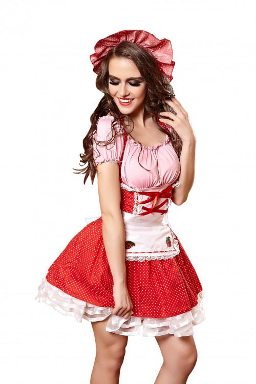 red hat Maid costume for woman