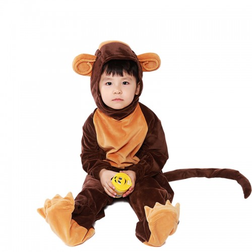 halloween animal monkey costume for kids