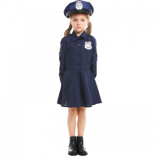 halloween police costume for girl