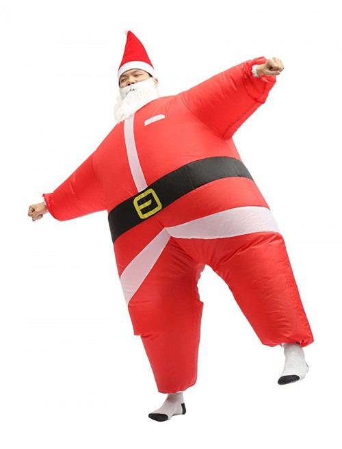christmas santa inflatable costume