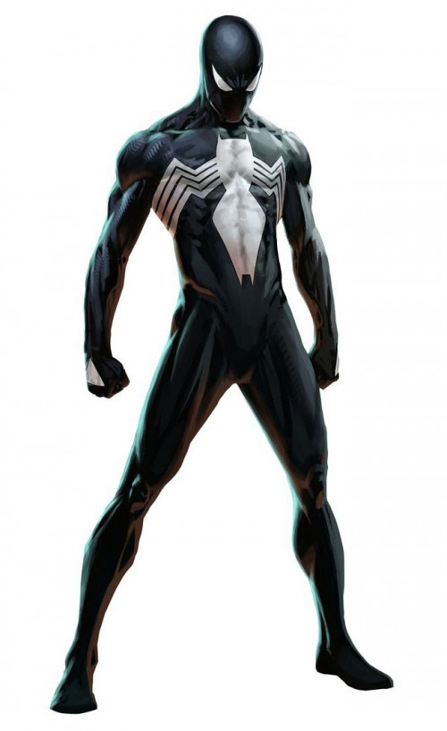spiderman black suit