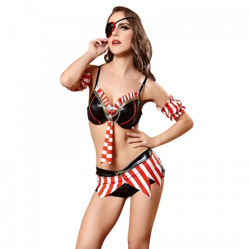 Halloween sexy one eye pirate costume dress