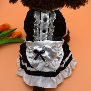 maid wear dog maid dress red and black
