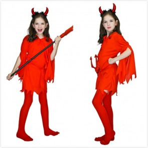 Girls Red Devil Costume For Halloween party