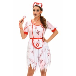 1fd964e8710d0 halloween Horrible zombie Nurse Costume