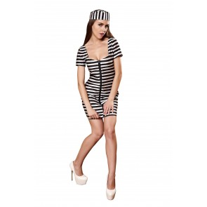 Sexy striped costume clothing overalls