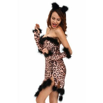 Fluffy Leopard Costume