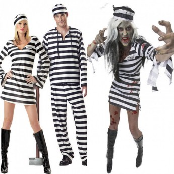 halloween Zombie prisoner costume for couples