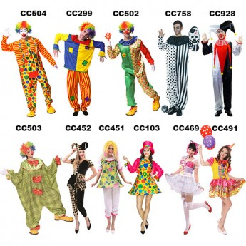 halloween clown costume for men wholesale