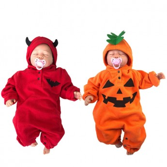 Baby pumpkin costume for halloween